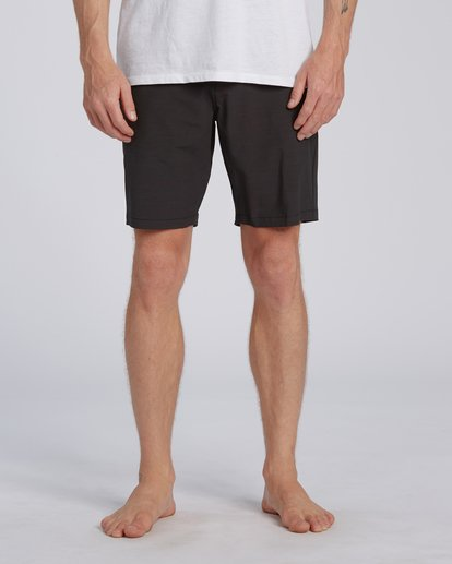 "0 New Order Slub Submersible Walkshort 19"" Black M2071BNS Billabong"