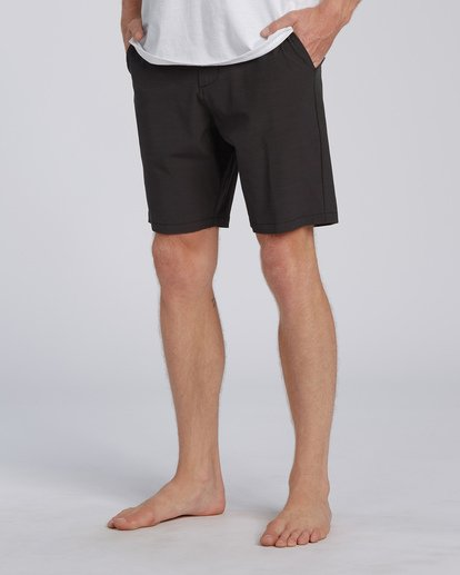 "6 New Order Slub Submersible Short 19"" Black M2071BNS Billabong"