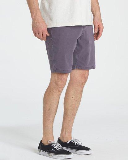4 New Order X Overdye Shorts Purple M207TBNO Billabong