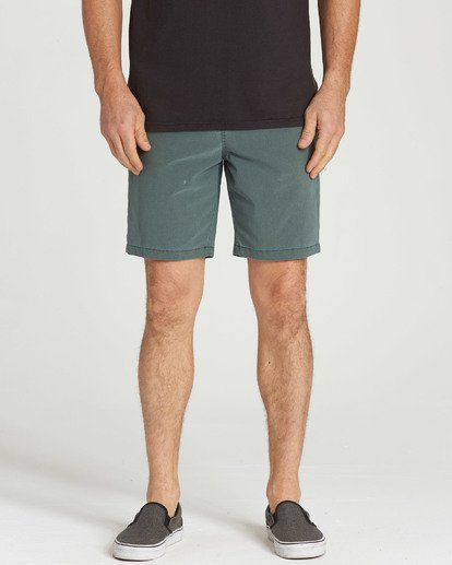 4 New Order X Overdye Shorts Green M207TBNO Billabong
