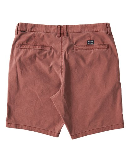 1 New Order X Overdye Shorts Red M207VBNO Billabong