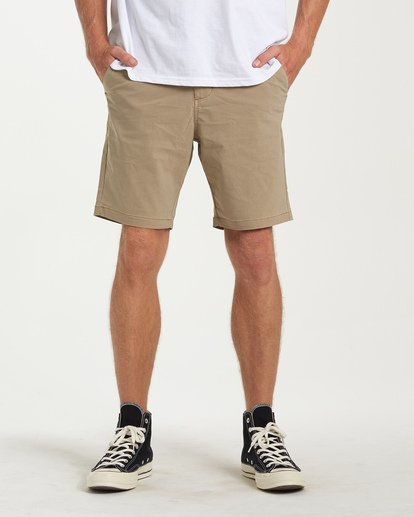 0 New Order X Overdye Shorts Beige M207VBNO Billabong