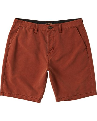 "4 New Order Overdye Submersible Walkshort 19"" Red M2081BNO Billabong"
