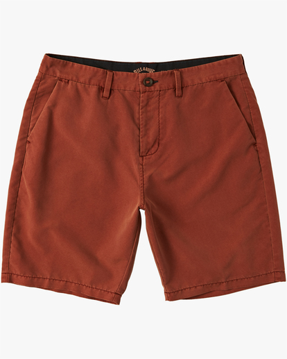 "5 New Order Overdye Submersible Walkshort 19"" Red M2081BNO Billabong"