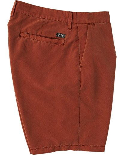 "6 New Order Overdye Submersible Walkshort 19"" Red M2081BNO Billabong"