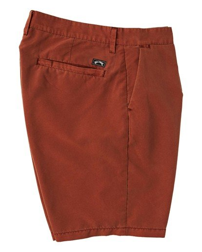 "9 New Order Overdye Submersible Walkshort 19"" Red M2081BNO Billabong"