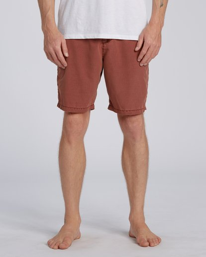 "0 New Order Overdye Submersible Walkshort 19"" Red M2081BNO Billabong"