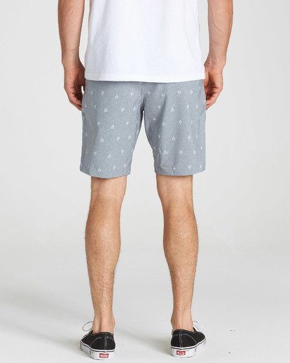 5 New Order X Sundays Submersibles Shorts Grey M213NBNS Billabong