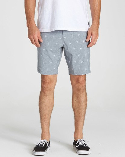 4 New Order X Sundays Submersibles Shorts Grey M213NBNS Billabong