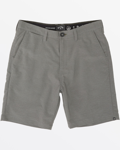 "3 Surftrek Wick Walkshort 20"" Grey M2161BSW Billabong"