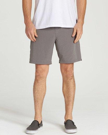8 Surftrek Perf Elastic Shorts Grey M219TBSP Billabong