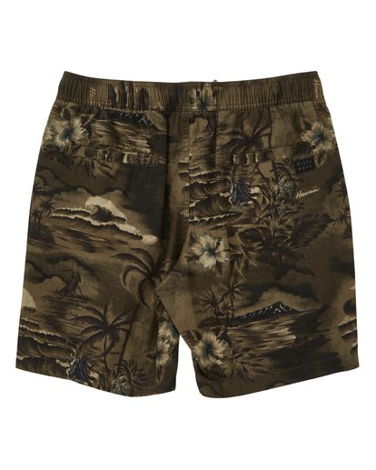 1 Larry Layback Sunday Boardshorts Green M231TBLS Billabong