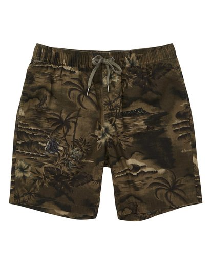 0 Larry Layback Sunday Boardshorts Green M231TBLS Billabong