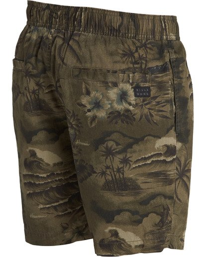 3 Larry Layback Sunday Boardshorts Green M231TBLS Billabong