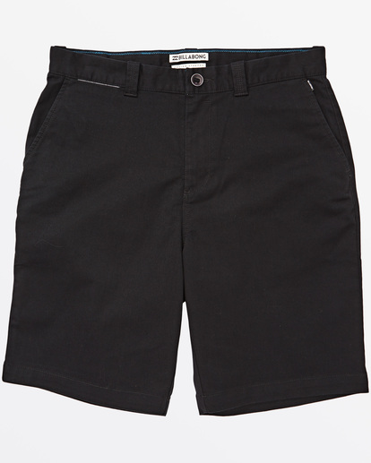 "4 Carter Stretch Walkshort 21"" Black M2361BCS Billabong"