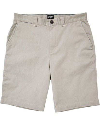 "4 Carter Stretch Short 21"" Grey M2361BCS Billabong"