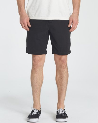 4 New Order Wave Wash Shorts Black M237TBNE Billabong