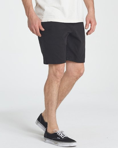 6 New Order Wave Wash Shorts Black M237TBNE Billabong