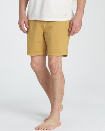 3 Larry Layback Walkshorts Yellow M239TBLL Billabong