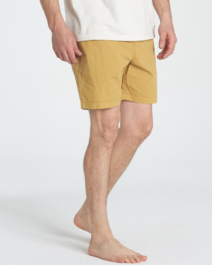 4 Larry Layback Walkshorts Yellow M239TBLL Billabong