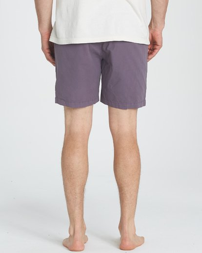 4 Larry Layback Walkshorts Purple M239TBLL Billabong