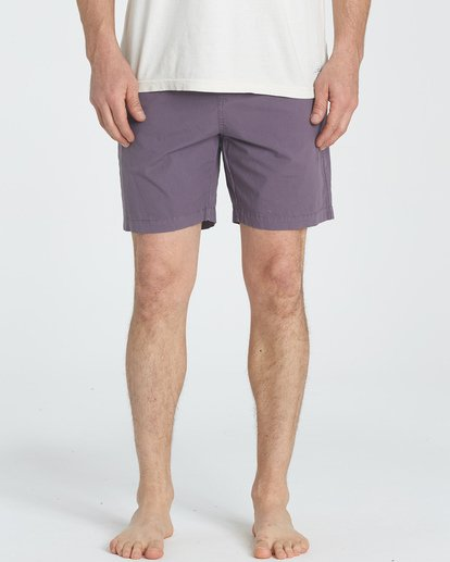 2 Larry Layback Walkshorts Purple M239TBLL Billabong