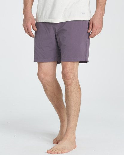 3 Larry Layback Walkshorts Purple M239TBLL Billabong