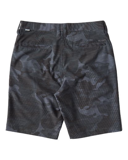 1 Crossfire X Slub Mid Length Submersible Shorts Black M240UBCS Billabong
