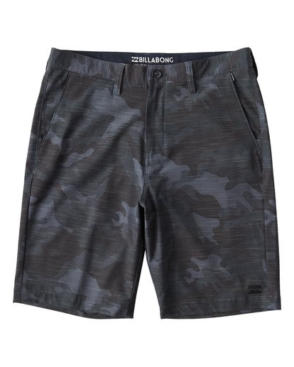 0 Crossfire X Slub Mid Length Submersible Shorts Black M240UBCS Billabong