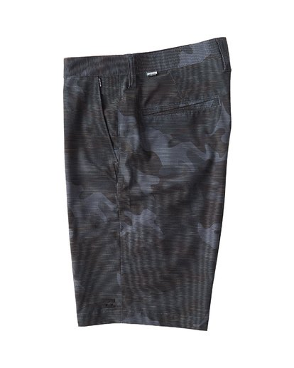 2 Crossfire X Slub Mid Length Submersible Shorts Black M240UBCS Billabong