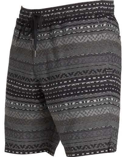 1 Larry Layback Jacquard Shorts Black M241QBLJ Billabong