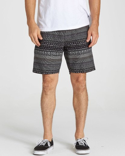3 Larry Layback Jacquard Shorts Black M241QBLJ Billabong