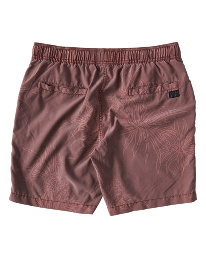 1 Larry Layback Sunday Walkshorts Red M241VBLS Billabong