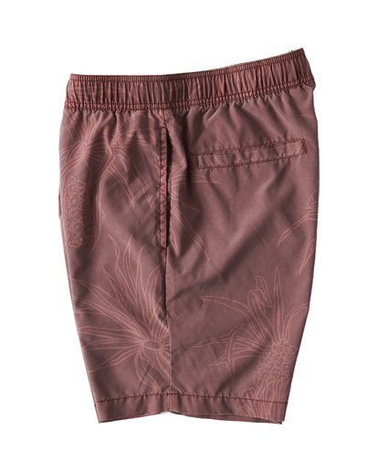 2 Larry Layback Sunday Walkshorts Red M241VBLS Billabong