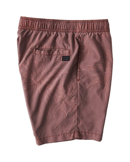 3 Larry Layback Sunday Walkshorts Red M241VBLS Billabong