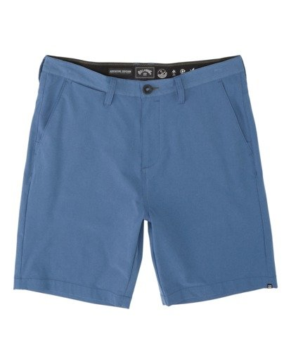 "3 Surftrek Heather Walkshort 20"" Blue M2421BSH Billabong"