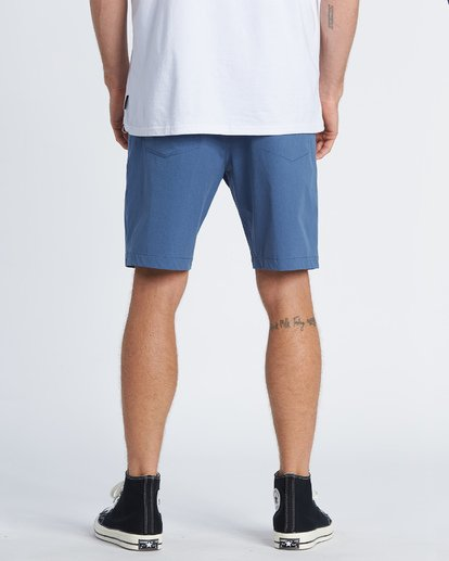 2 Surftrek Heather Performance Walkshorts Blue M2421BSH Billabong