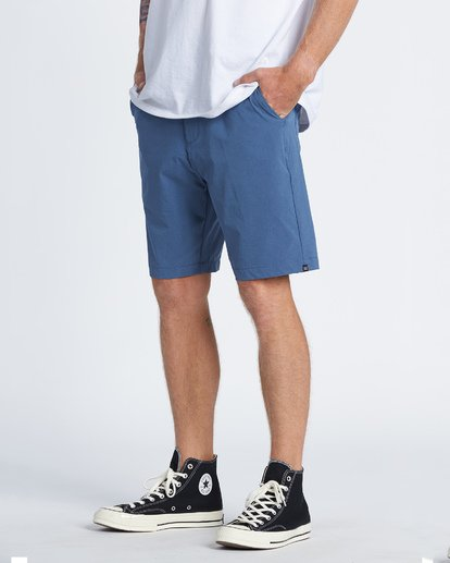 1 Surftrek Heather Performance Walkshorts Blue M2421BSH Billabong