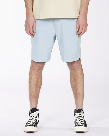 "0 Surftrek Heather Walkshort 20"" Blue M2421BSH Billabong"