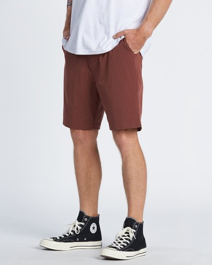 1 Surftrek Heather Walkshorts Brown M2421BSH Billabong