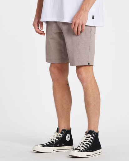 "1 A/Div Surftrek Oxford Walkshort 19"" Orange M2451BSO Billabong"