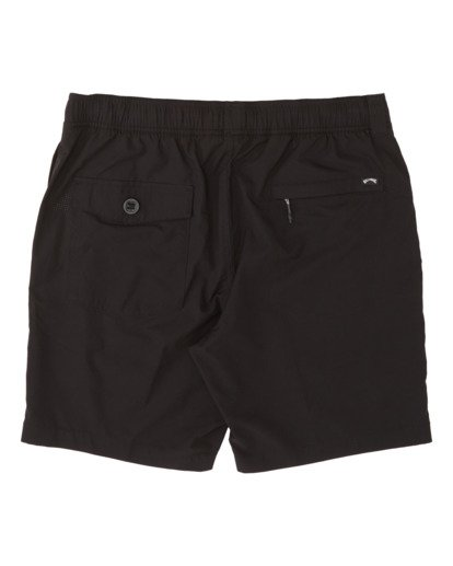 "4 Surftrek Perf Elastic Walkshort 18"" Black M2461BSP Billabong"