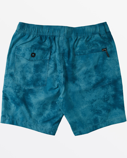 "6 Surftrek Perf Elastic Walkshort 18"" Blue M2461BSP Billabong"