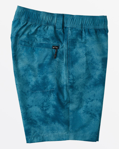 "8 Surftrek Perf Elastic Walkshort 18"" Blue M2461BSP Billabong"