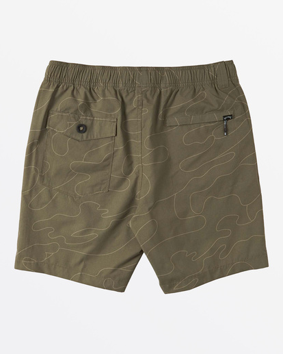 1 Surftrek Perf Elastic Walkshorts Green M2461BSP Billabong