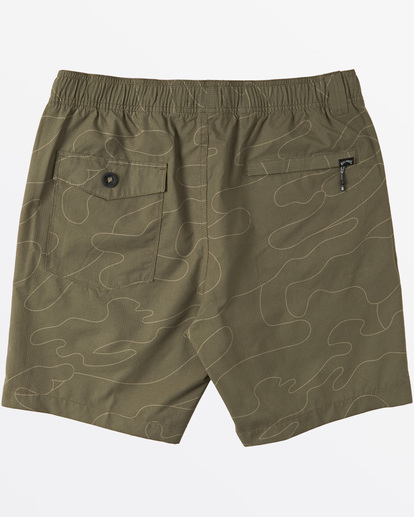 2 Surftrek Perf Elastic Walkshorts Green M2461BSP Billabong