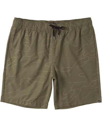 0 Surftrek Perf Elastic Walkshorts Green M2461BSP Billabong