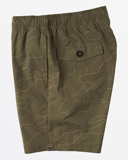 3 Surftrek Perf Elastic Walkshorts Green M2461BSP Billabong