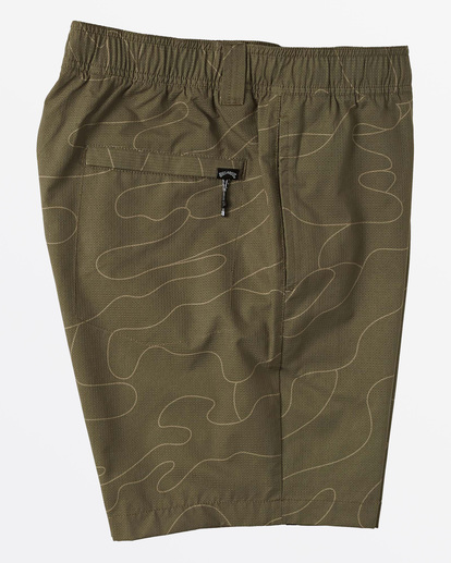 4 Surftrek Perf Elastic Walkshorts Green M2461BSP Billabong