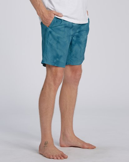 "1 Surftrek Perf Elastic Walkshort 18"" Blue M2461BSP Billabong"
